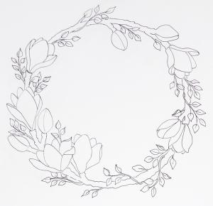 magnoliakrans 1 utan färg